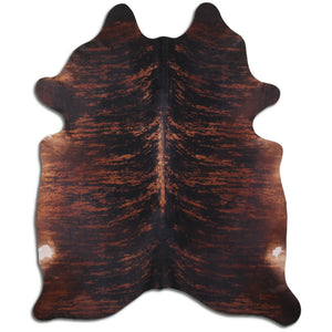 Brazilian Brindle Cowhide Brown