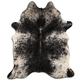 Black Grey white Faux Cowhide Contemporary Rawhide 100% suede backing
