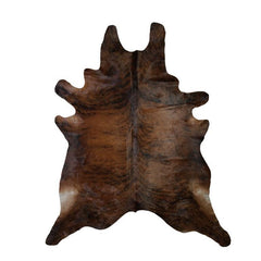 Brazilian Exotic Brown Cowhide Rug