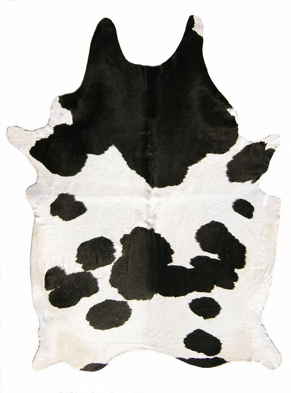Brazilian White Black Cowhide