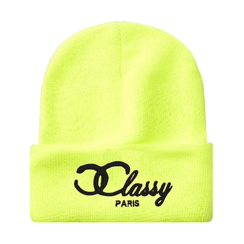 ICONIC NEON YELLOW BEANIE