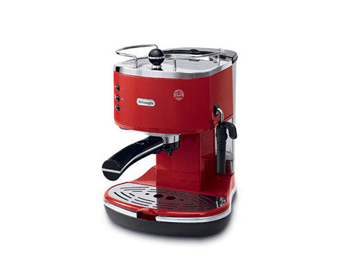 Delonghi Icona Manual Coffee Machine - Red