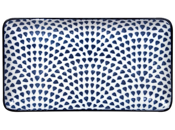 Gusta Out of the Blue Drops - Rectangular plate