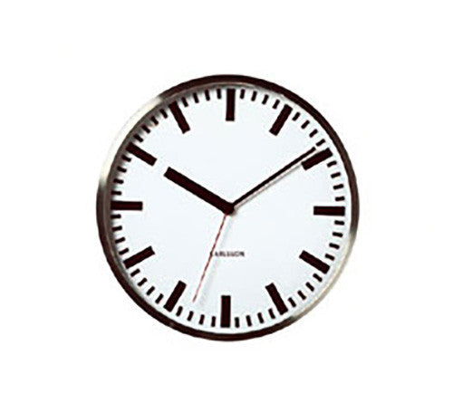 Karlsson Steel Polished Clock 24cm