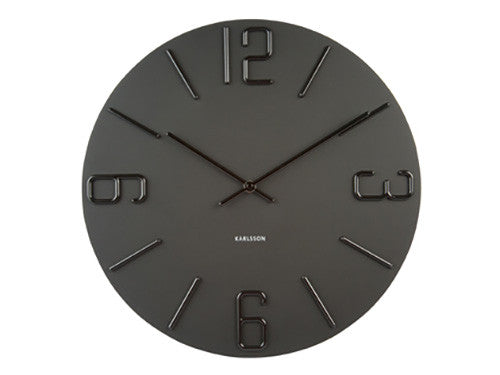 Karlsson Wall Clock Relief Black