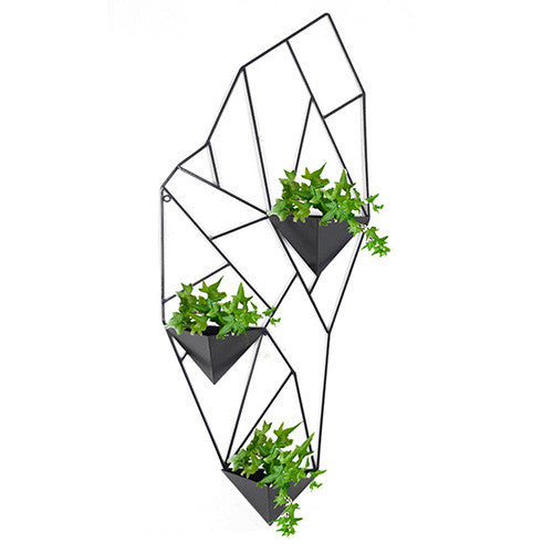 3 Pot Geo Wall Trelis Planter