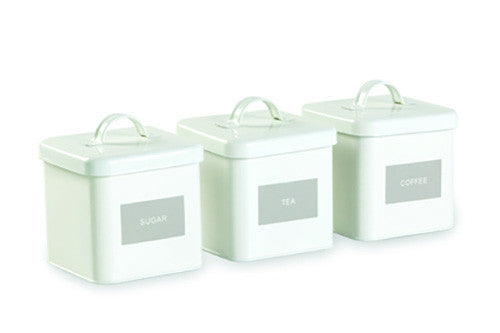 Retro Airtight Storage Containers - White