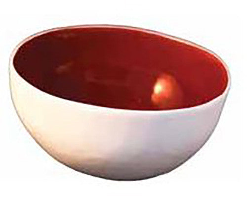 Jo Luping Porcelain Bowl Large - Deep Red