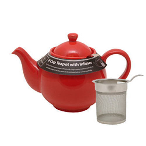 Mason Cash Filter Teapot - 6 Cups - Bright Red