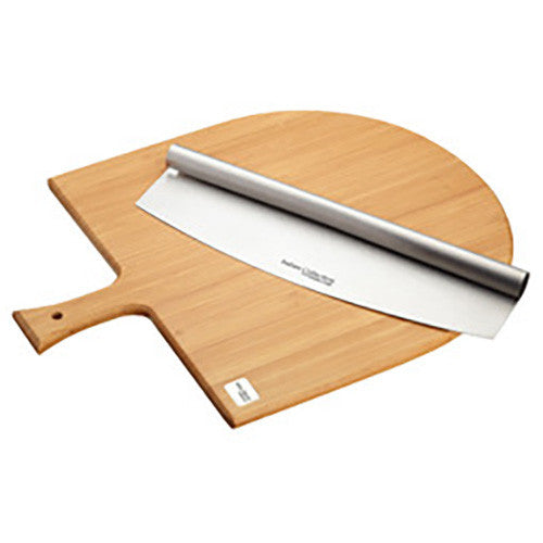 Kitchen Craft Pizza serving Board and Cutter Set