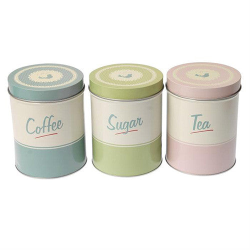 Retro Pantry Canisters - set of 3