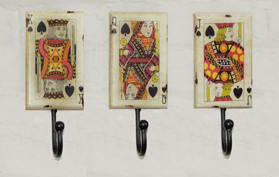 Set of 3 Card Hooks
