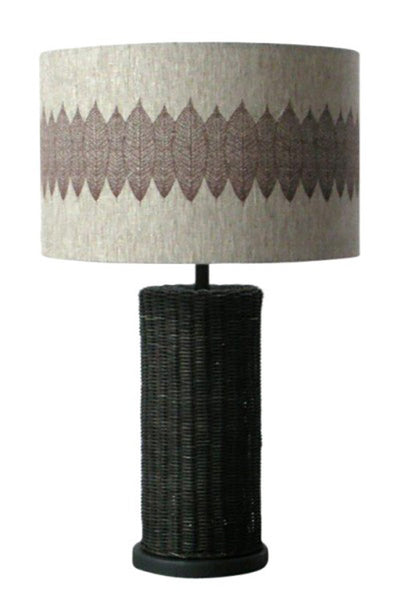Table Lamp - Dark Rattan Leaf