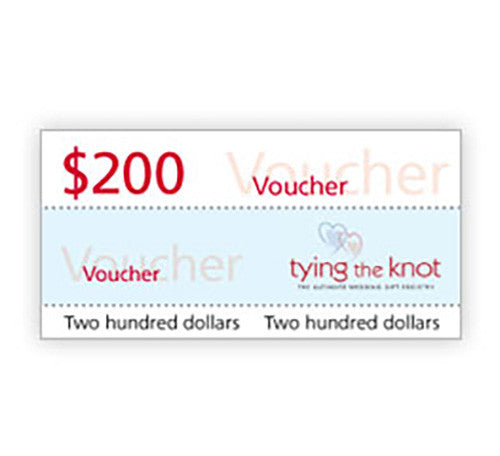 Tying the Knot $200 Voucher