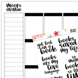Bookish Planner Stickers - Vol Three - Moore Avenue