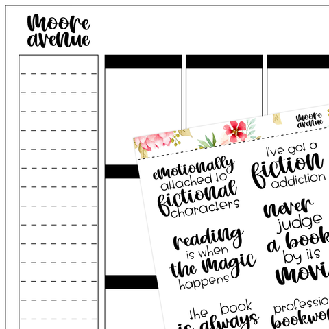 Bookish Planner Stickers - Vol Four - Moore Avenue