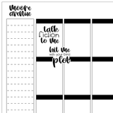 Bookish Planner Stickers - Weekend Stickers