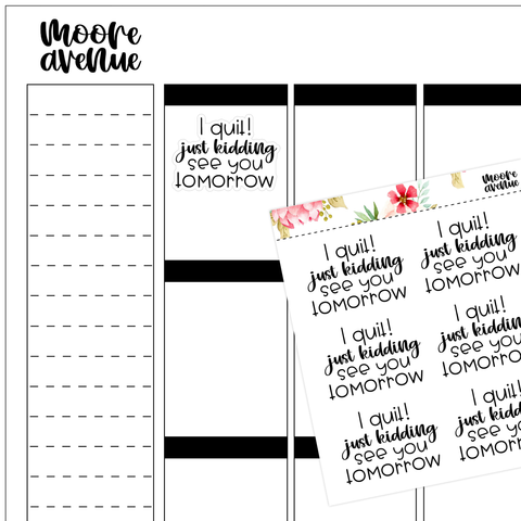 Sassy Fitness Stickers - Misc Quotes Vol 1 - Moore Avenue