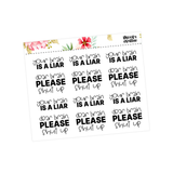 Potty Mouth Planner Stickers - So Fucking Tired
