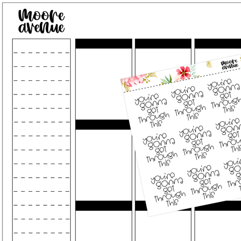 Sassy Planner Stickers - Funny Tired Quotes