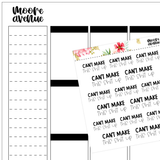 Potty Mouth Planner Stickers - Broke Bitch