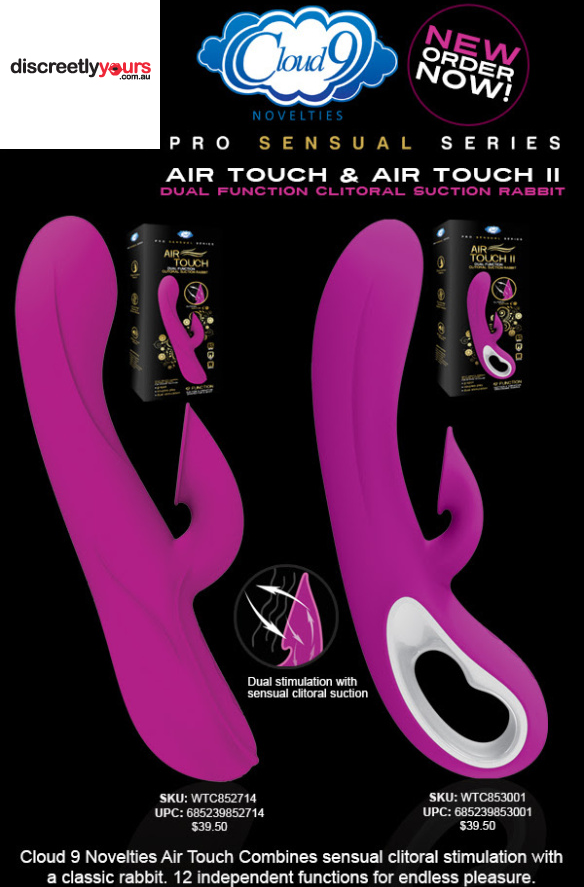 New Air Touch Clitoral Suction Vibe in Stock for Valentine's Day
