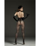 Halter Neck Tattoo Body Stocking