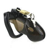 Black Rikers Locking Chastity Device with Lock 4