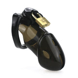 Black Rikers Locking Chastity Device with Lock