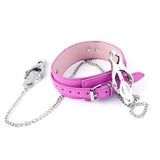 Lichee Pattern Sex Magic Collar With Nipple Clamps - 3