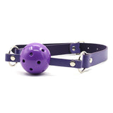 Plush Bondage Kit Purple Gag
