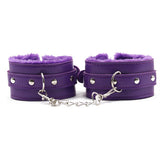 Plush Bondage Kit Purple Cuffs