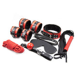 Plush Bondage Kit Red and Black contents