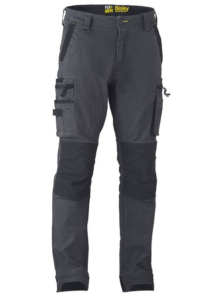 BISLEY Flex & Move™ Stretch Utility Cargo Trouser Kevlar Knee Pockets - UKPC6333 / Charcoal