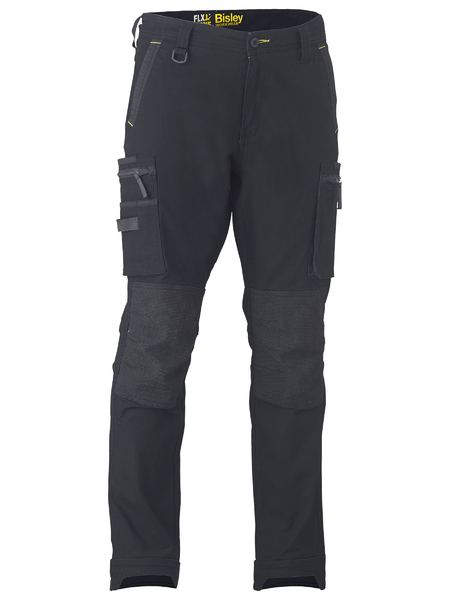 BISLEY Flex & Move™ Stretch Utility Cargo Trouser Kevlar Knee Pockets - UKPC6333 / Black