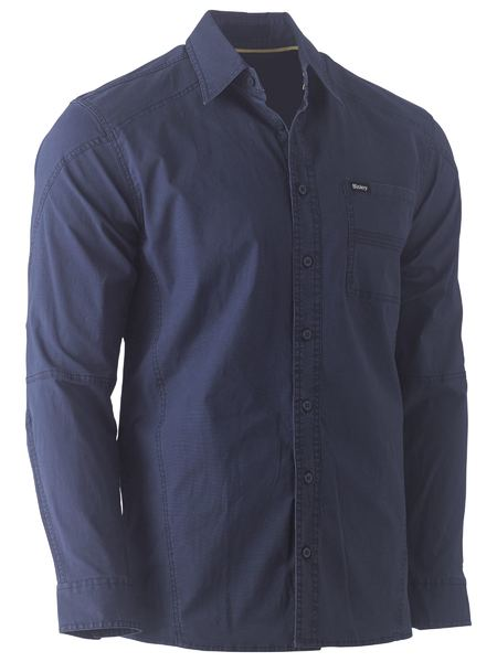 BISLEY Flex & Move™ Stretch Shirt - UKS6146 / Navy