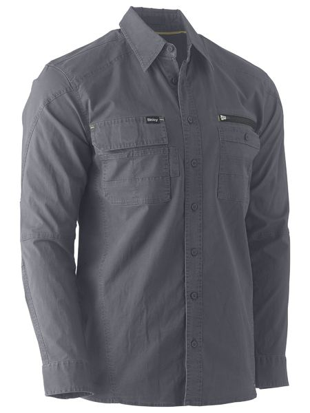 BISLEY Flex & Move™ Utility Work Shirt - UKS6144 / Charcoal