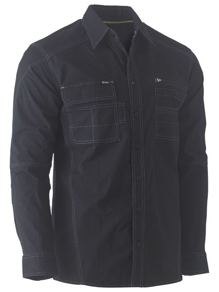 BISLEY Flex & Move™ Utility Work Shirt - UKS6144 / Black