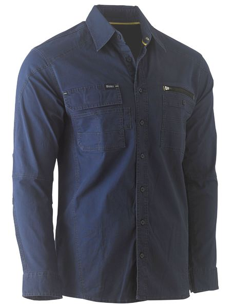 BISLEY Flex & Move™ Utility Work Shirt - UKS6144 / Navy