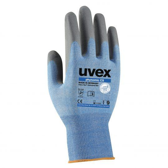 UVEX Phynomic C5 Cut Protection Glove (Size 9 / Medium)