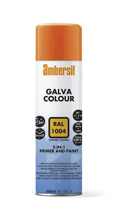 Ambersil Galva Colour Silver RAL 9006 500ml (20680) - Box of 6