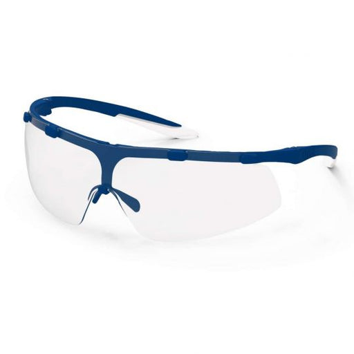 UVEX Super Fit Safety Glasses - Navy Blue / White (Clear)