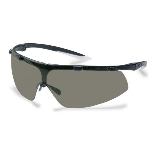 UVEX Super Fit Safety Glasses - Black / White (Tinted)