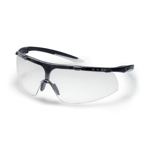 UVEX Super Fit Safety Glasses - Black / White (Clear)