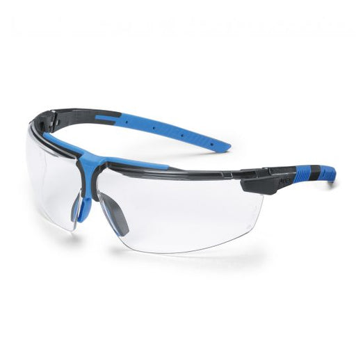 UVEX i-3 AR Safety Glasses - Black / Blue (Clear) Anti reflective