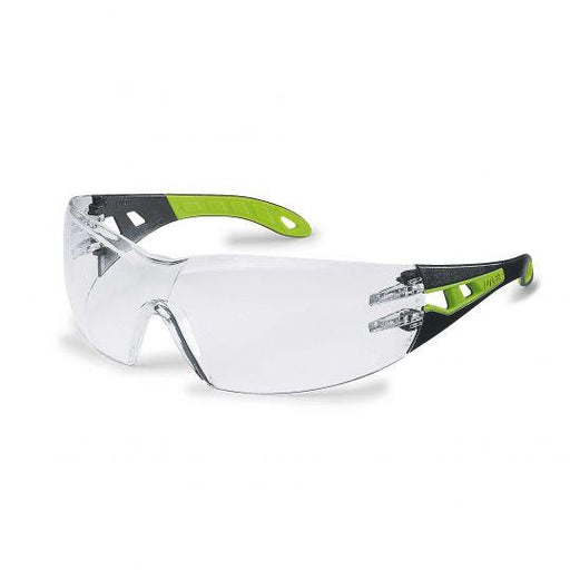 UVEX Pheos Spectacles Black/Lime Green (Clear)