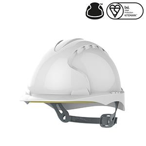 JSP EVO®2 Safety Helmet with Slip Ratchet - White - Vented (AJF030-000-100)