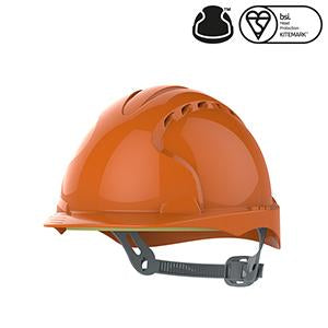 EVO®2 Safety Helmet with Slip Ratchet - Orange - Vented (AJF030-000-800)