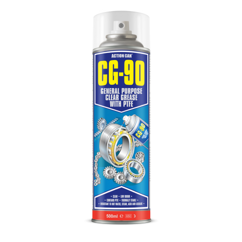 CG-90 GENERAL PURPOSE CLEAR GREASE WITH PTFE (1955) 500ml Aerosol