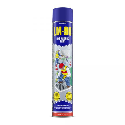 LM-90 LINE MARKING PAINT (BLUE)   (1892) 750ml Aerosol